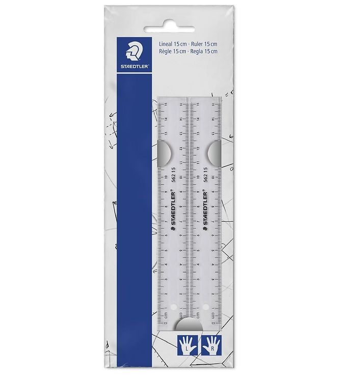 Image of Staedtler Linealer - 15 cm - Transparent - 2 stk (XI019)