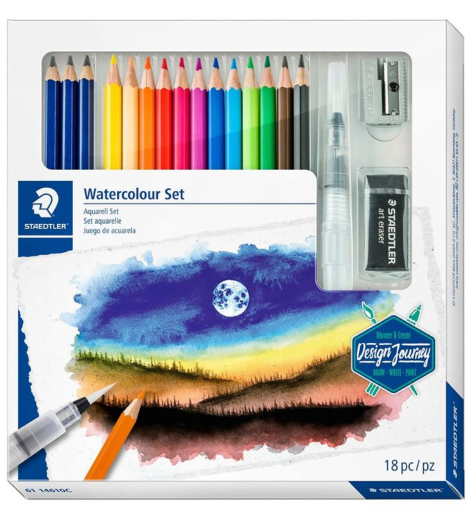 Image of Staedtler Farveblyanter - Watercolor Set - 18 dele (XI033)