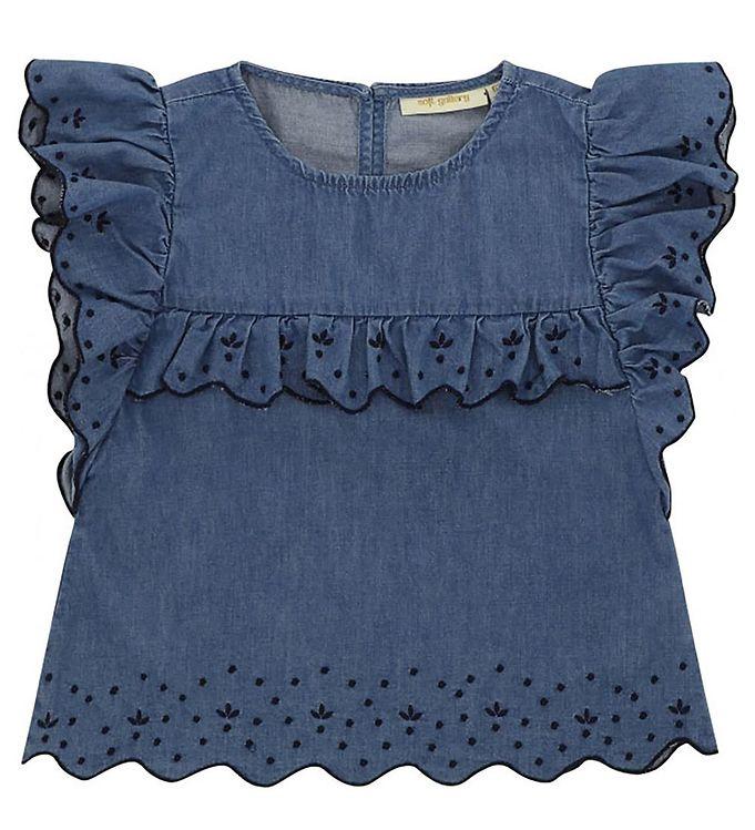 Image of Soft Gallery Top - Florin - Denim Blue (XI430)