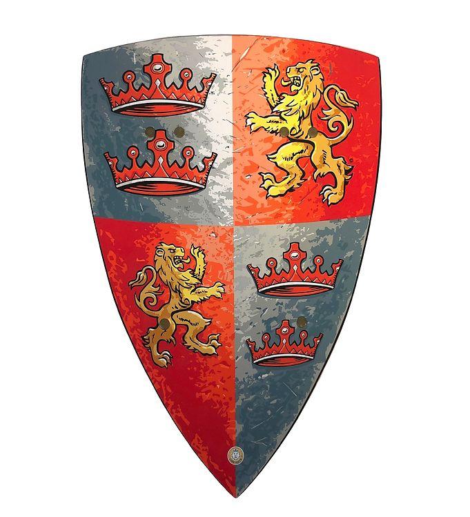 Image of Liontouch Udklædning - Lionheart Skjold - Rød (XI498)