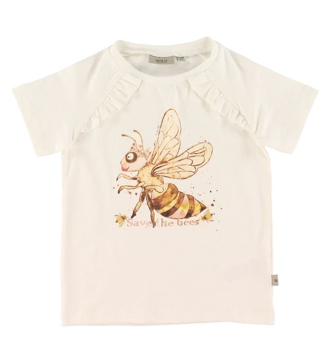 Wheat Wheat T-shirt - Bee - Ivory