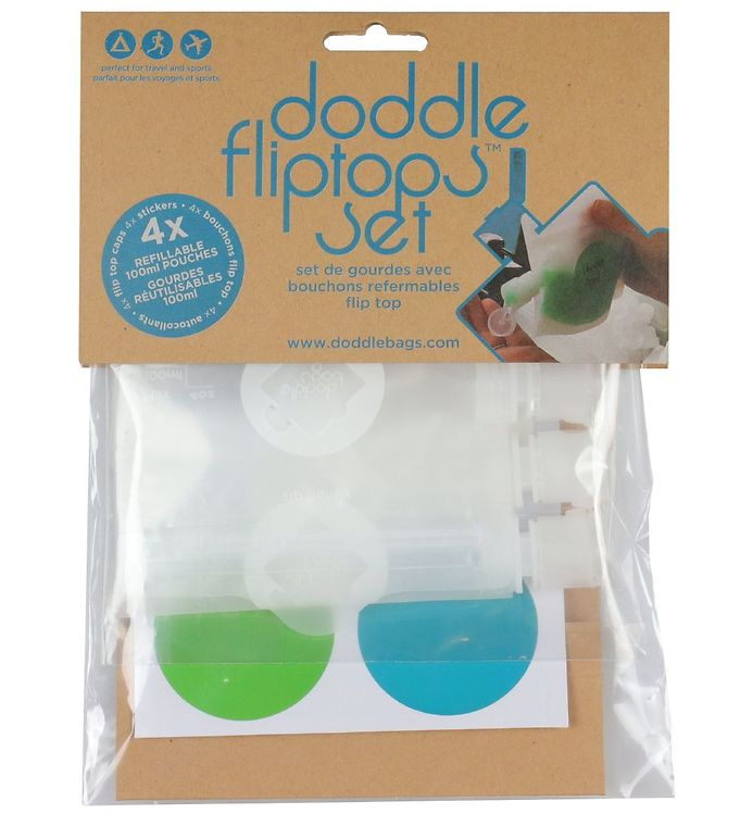 Image of Doddlebags Fødevareposer - 4 stk - 100 ml (XI971)