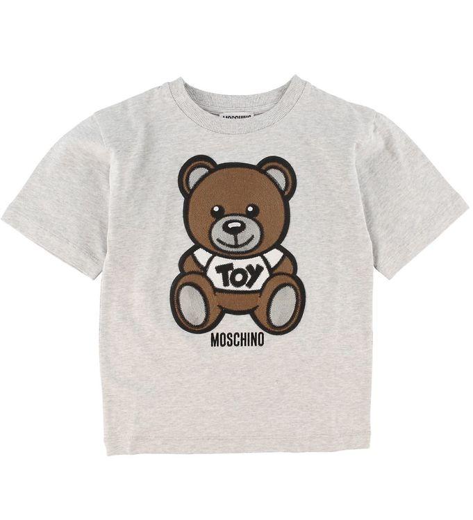 Image of Moschino T-shirt - Gråmeleret m. Logo (XI979)
