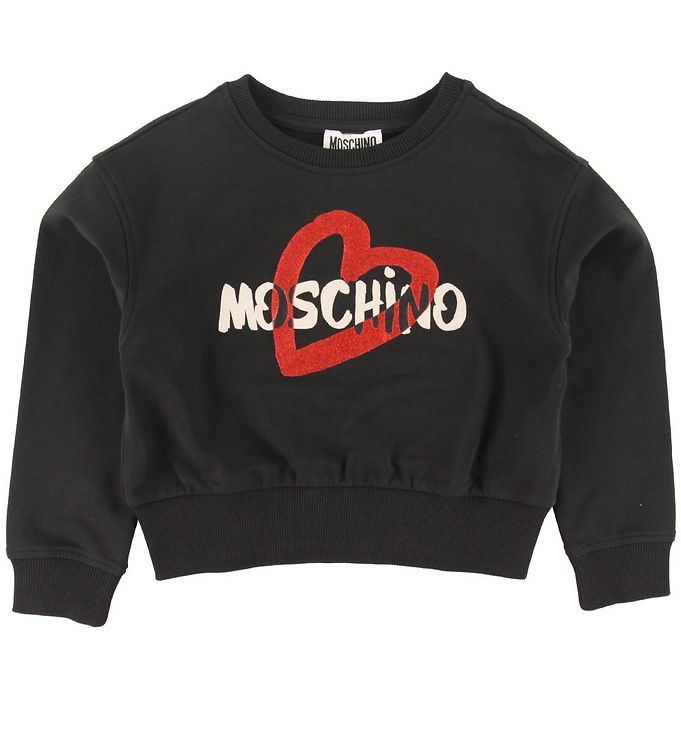 Image of Moschino Sweatshirt - Sort m. Glimmer/Logo (XI985)