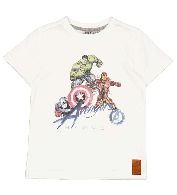 Wheat Wheat Marvel T-shirt - Avengers - Off White