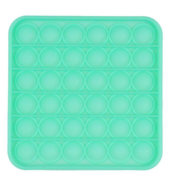 Image of Push Pop Bubble Legetøj - 12,5x12,5 cm - Firkant - Grøn Glow (YO401)