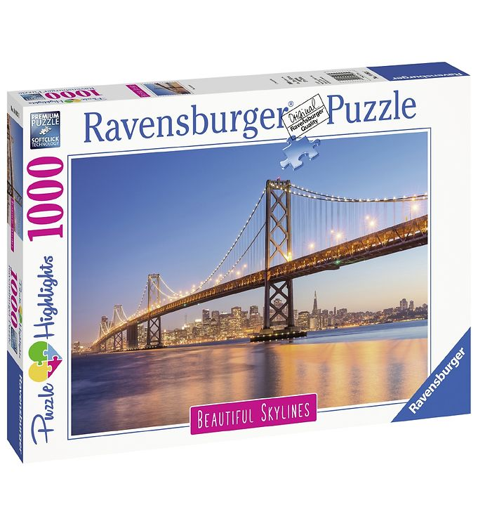 Image of Ravensburger Puslespil - 1000 Brikker - San Francisco (YO803)