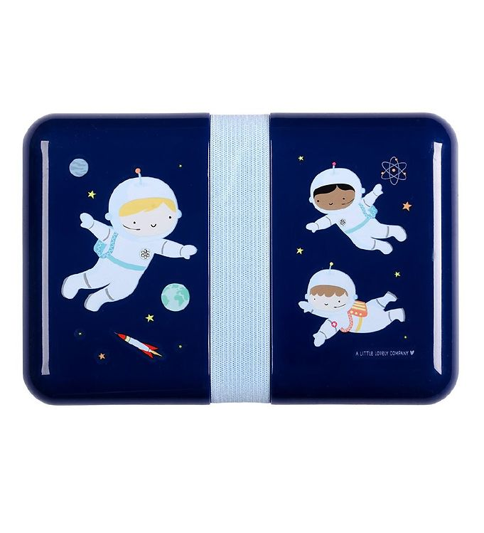 Image of A Little Lovely Company Madkasse - Astronaut - Blå (YO928)