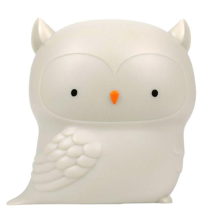 Image of A Little Lovely Company Natlampe - Owl - Grå (YO983)