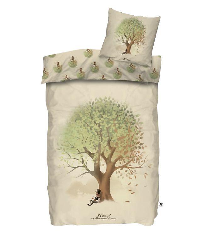 H.C. Andersen Sengetøj - Træ - Baby - Beige
