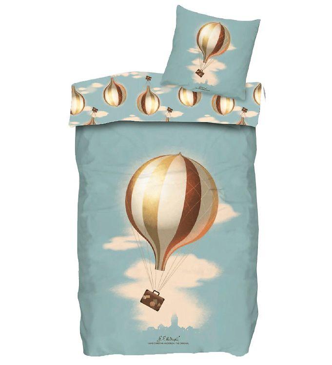 Image of H.C. Andersen Sengetøj - Luftballon - Junior - At Rejse Er At Le (YO995)