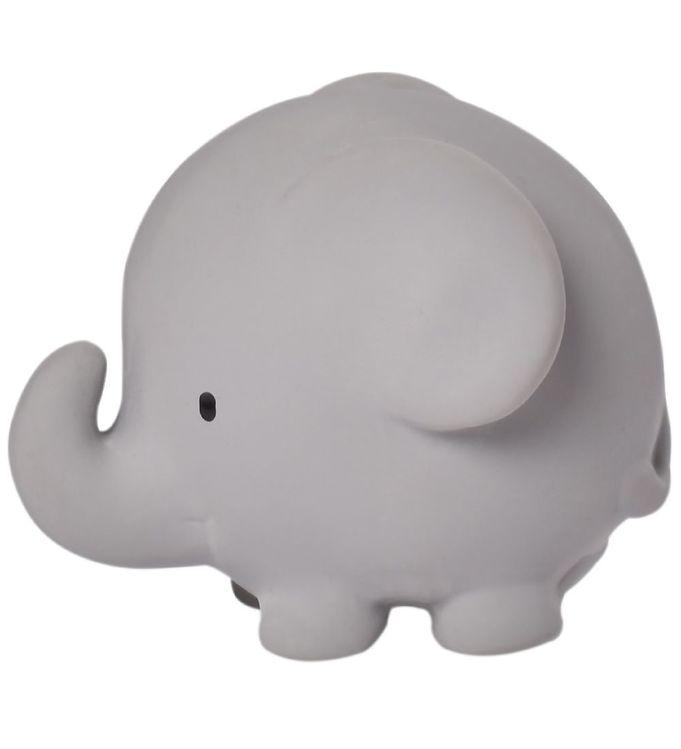 Image of Tikiri Bidedyr - Naturgummi - Elefant - Grå (YP299)