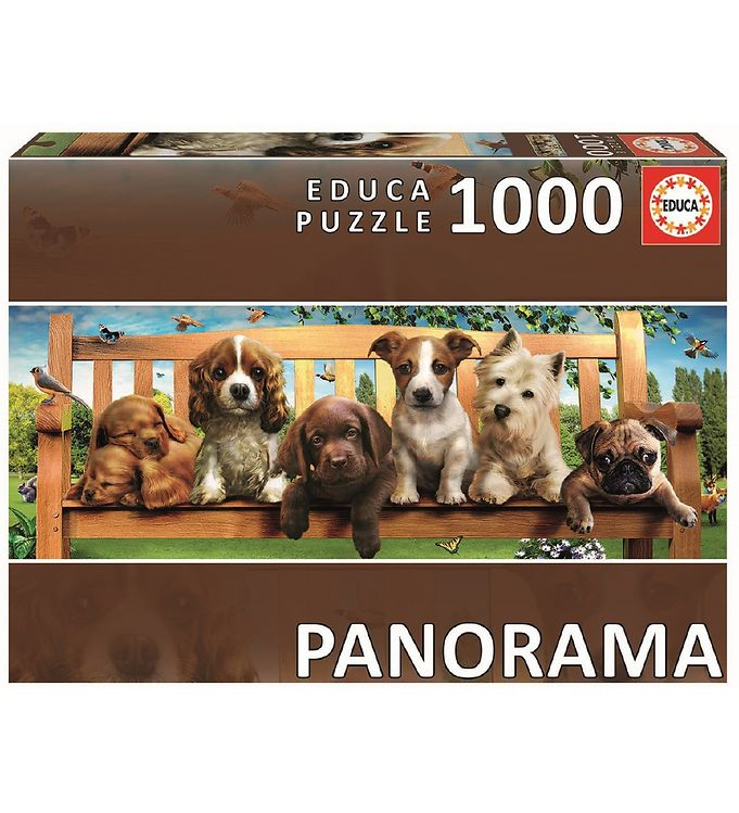Image of Educa Puslespil - 1000 Brikker - Dogs in the Quay Panorama (YP654)