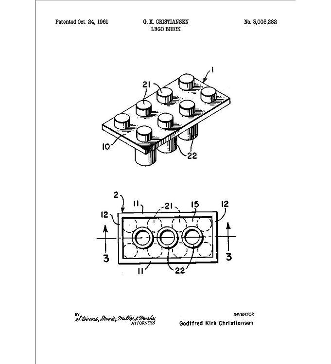 Image of Citatplakat Plakat - A3 - Legoklods (YP762)