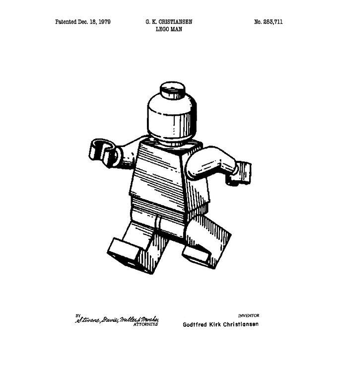 Image of Citatplakat Plakat - A3 - Legomand (YP766)