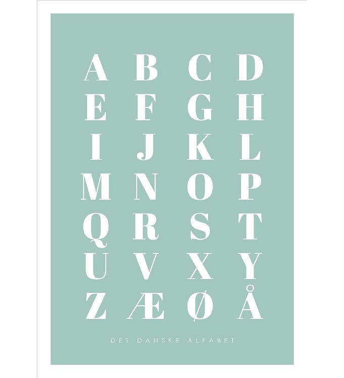 Image of Citatplakat Plakat - A3 - Alfabet Plakat - Grøn (YP773)