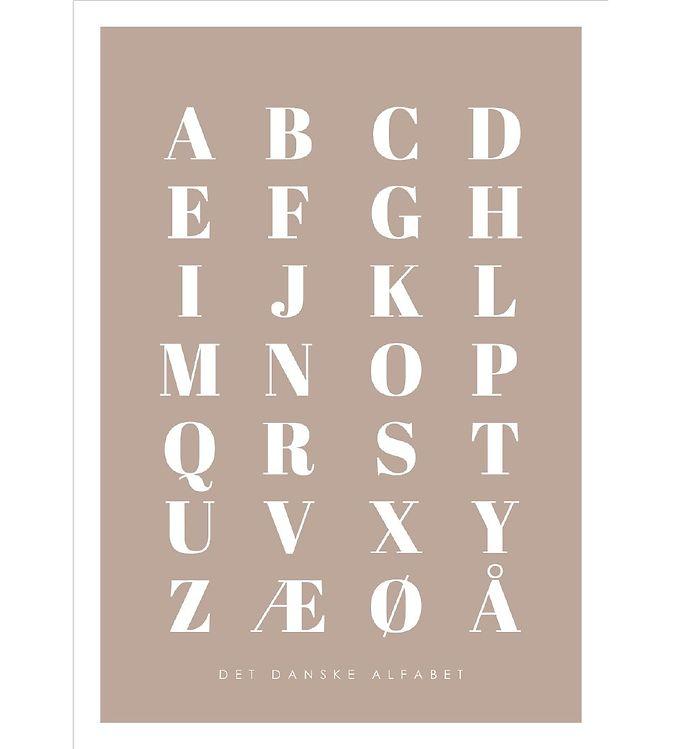 Image of Citatplakat Plakat - A3 - Alfabet Plakat - Brun (YP781)