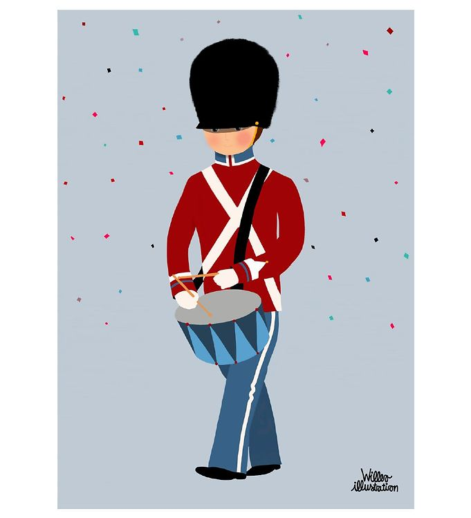 Image of Citatplakat Plakat - A3 - Little Guard With Drum (YP817)