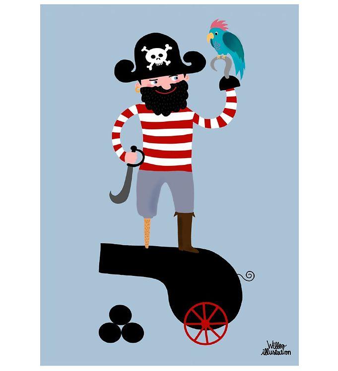 Image of Citatplakat Plakat - A3 - Pirate and Parrot (YP844)
