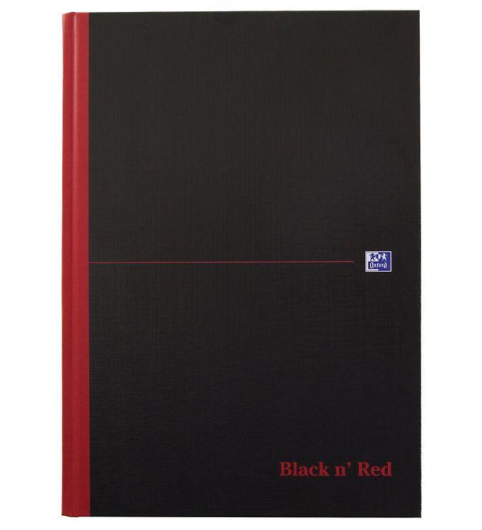 Image of Oxford Notesbog - Hard Cover - Linieret - A4 - Sort/Rød (YP953)