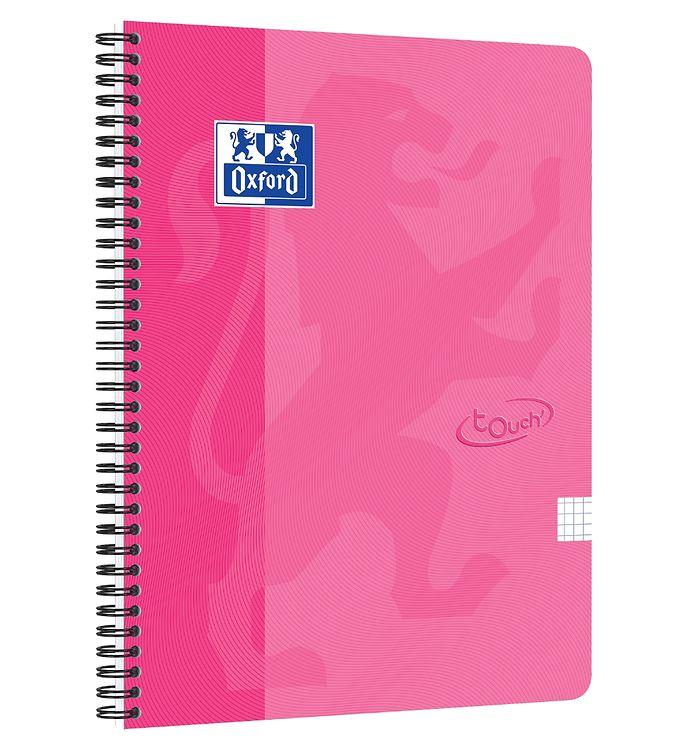 Image of Oxford Notesbog - Touch - Kvadreret - A4+ - Rosa (YP989)