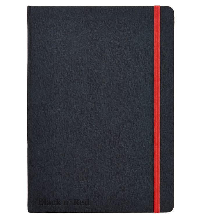 Image of Oxford Notesbog - Hard Cover - Linieret - A5 - Sort/Rød (YP998)