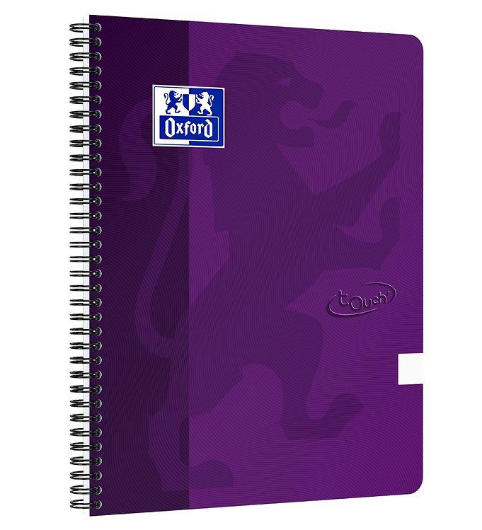 Image of Oxford Notesbog - Touch - Blank - A4+ - Lilla (YR003)