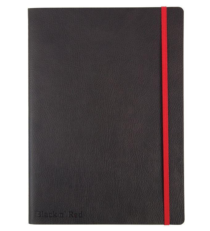 Image of Oxford Notesbog - Soft Cover - Linieret - B5 - Sort/Rød (YR004)