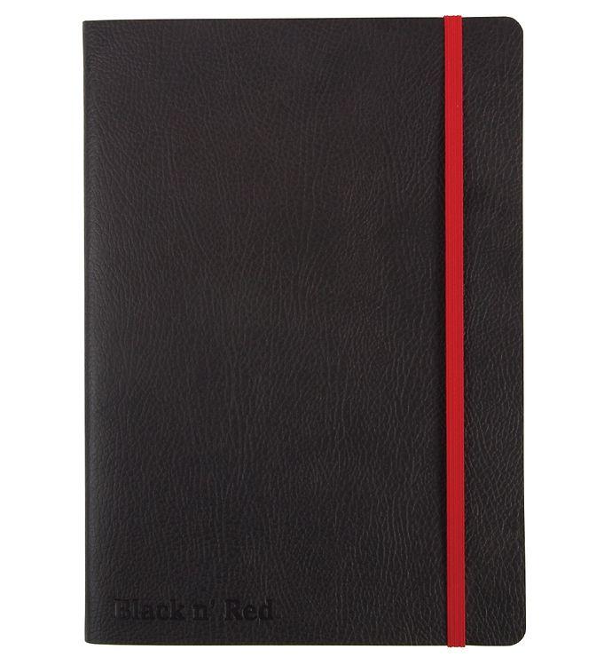 Image of Oxford Notesbog - Soft Cover - Linieret - A5 - Sort/Rød (YR008)