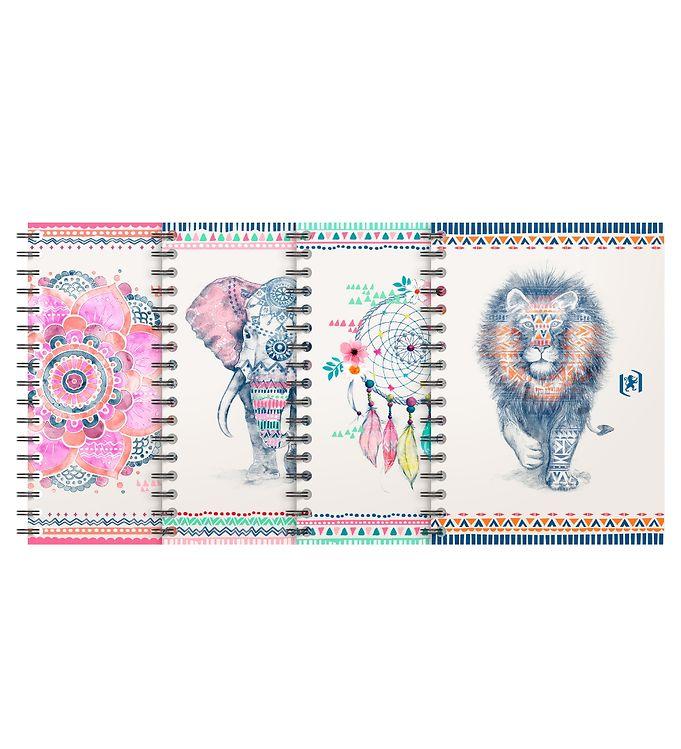 Image of Oxford Notesbog - Boho Chic - Linieret - B5 - Assorteret (YR014)