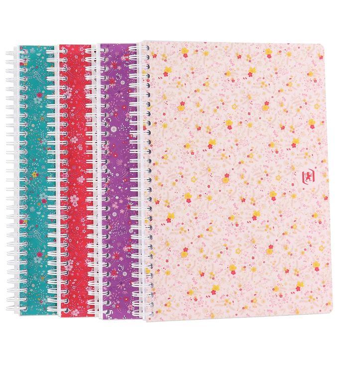 Image of Oxford Notesbog - Floral - Kvadreret - B5 - Assorteret (YR017)