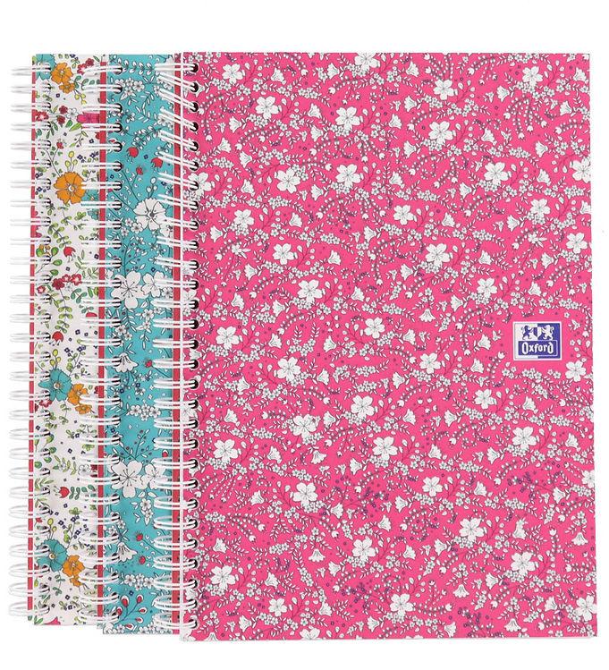 Image of Oxford Notesbog - Floral - Kvadreret - B5 - Assorteret (YR018)