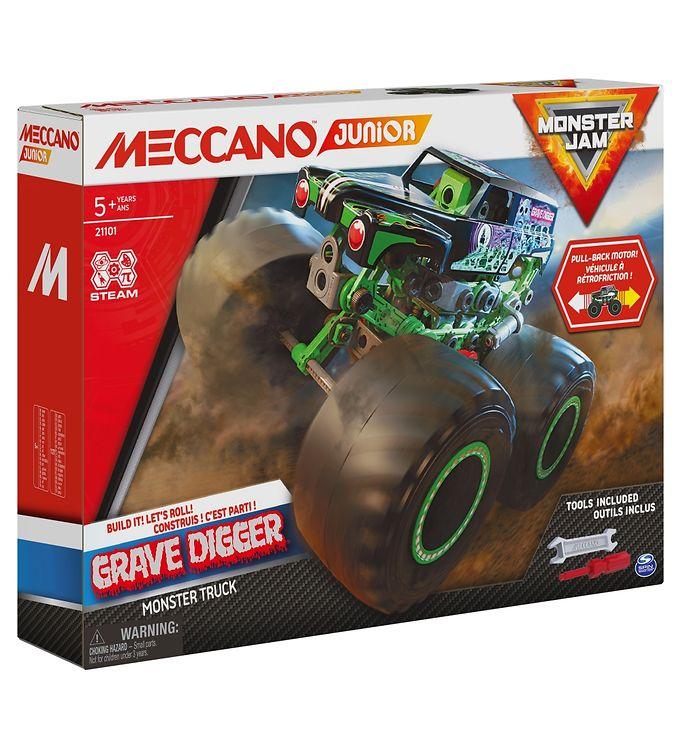 Image of Meccano Byggesæt - Grave Digger Monster Jam Truck (YR221)