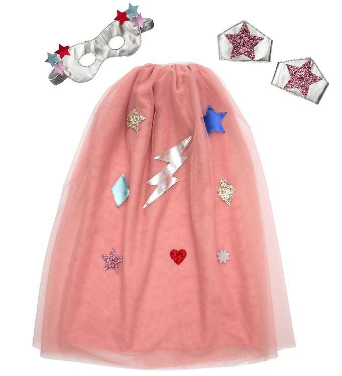 Image of Meri Meri Udklædning - Kappe, Maske og Armbånd - Pink Superhero (YR225)