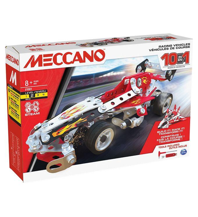 Image of Meccano Byggesæt - 10 i 1 - Racerbiler (YR658)