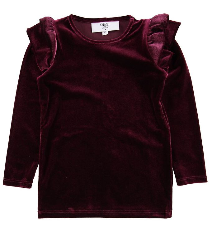 Knast by Krutter Bluse - Velour - Bordeaux