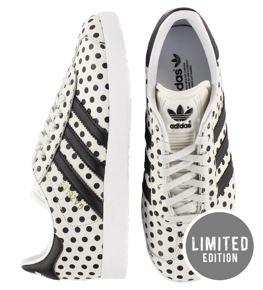 adidas Originals Sko Gazelle W HvidSort m. Prikker