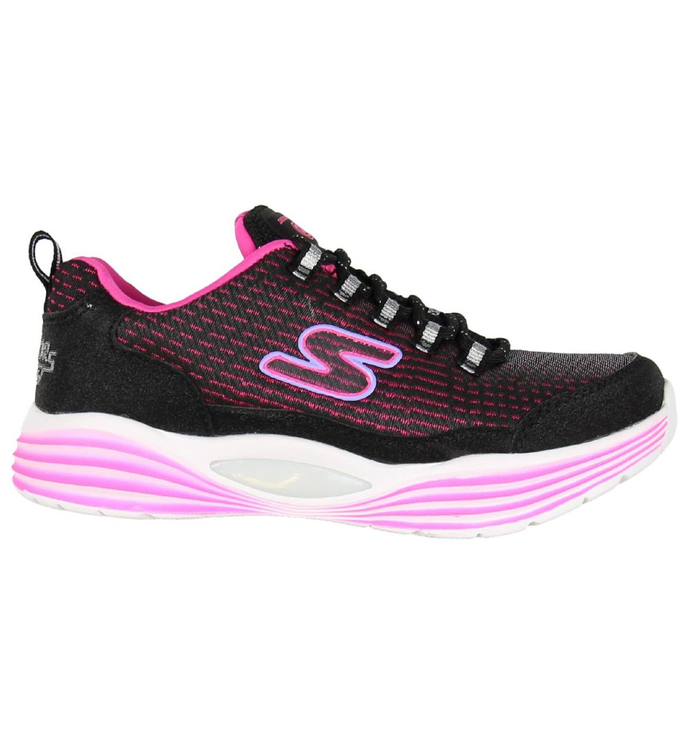 Skechers Sko - Luminators Luxe - Sort/Pink m. Blink