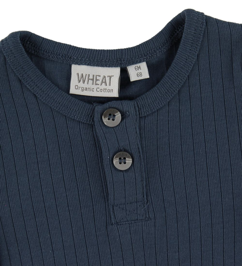 Wheat Body k/æ - Rib Placket - Indigo