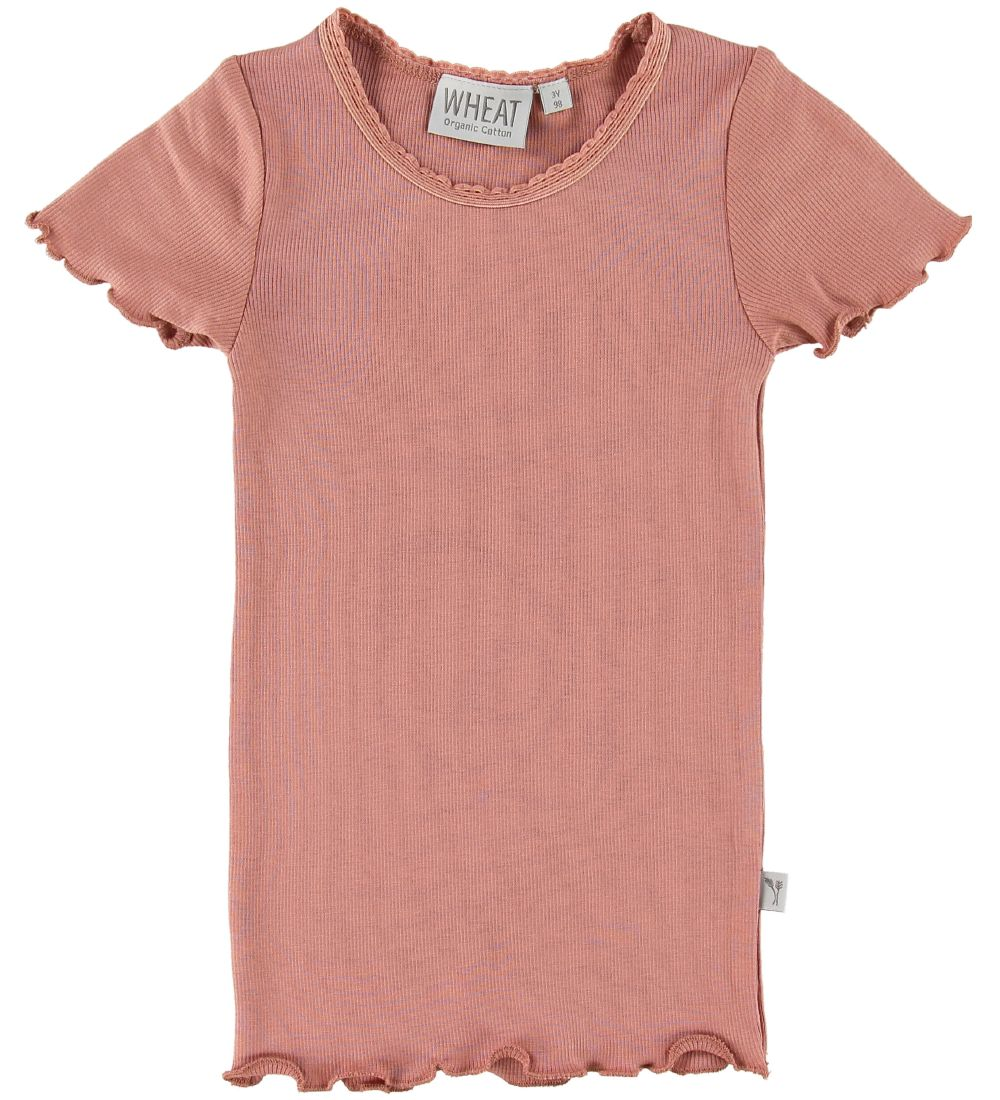 Wheat T-shirt - Rib Lace - Soft Peach Rose